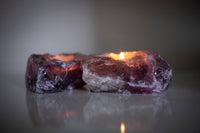 Amethyst Crystal TeaLight Candle Holder