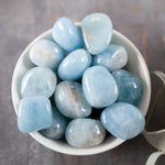 Aquamarine Stone, High-Quality Tumbled Aquamarine, 1in