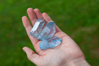 Raw Aqua Aura Quartz Crystal Point