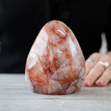 Hematoid Quartz Freeform, Fire Quartz, Agnitite