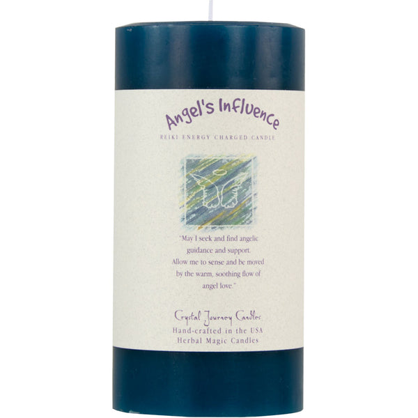 Angel's Influence Reiki Candle, Large, Honeysuckle, Sweet Heather, Rose, Peppermint