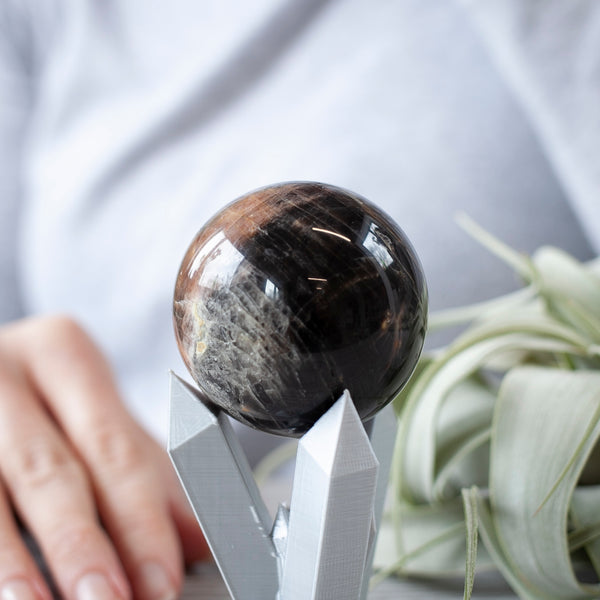 Black Moonstone Sphere