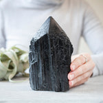 Black Tourmaline Tower, Raw Base, 2.4lb