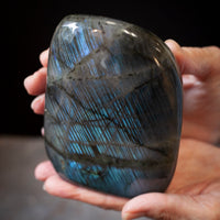 Striped Sky Blue Labradorite, 2.5lb Free Form
