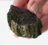 Black Tourmaline Specimen with Green Shimmer | Raw Mineral, 2.24oz