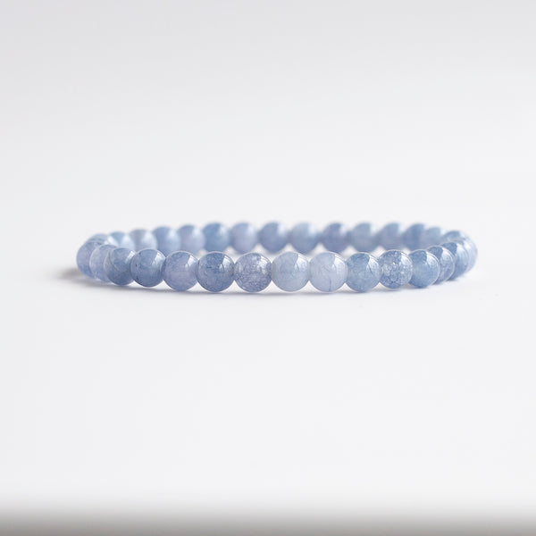 Blue Calcite Bracelet, 6mm