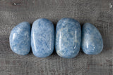 Large Blue Calcite Stones. Polished Blue Calcite Pebbles