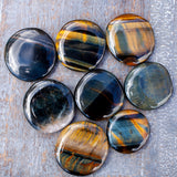 Blue Tiger's Eye Worry Stone, Extra Quality, 1.25in