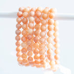 Peach Calcite Bracelet, 8mm bead