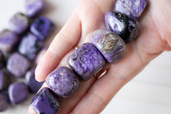 Charoite Stone | High-Quality, Purple and Lavender Tumbled Stones