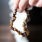 Tiger Eye Chip Bracelet, Stretch