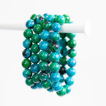 Chrysocolla Bracelet, 10mm Bead
