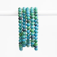 Chrysocolla Bracelet, 6mm Bead