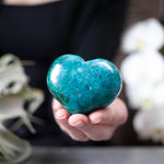 Chrysocolla Heart, Large Puffy Heart