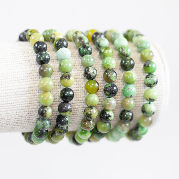 Chrysoprase Bracelet, 8mm Bead
