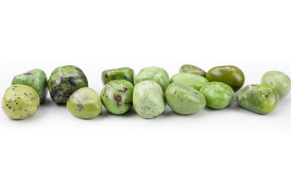 Chrysoprase Stone | Large, Light Green Tumbled Stones