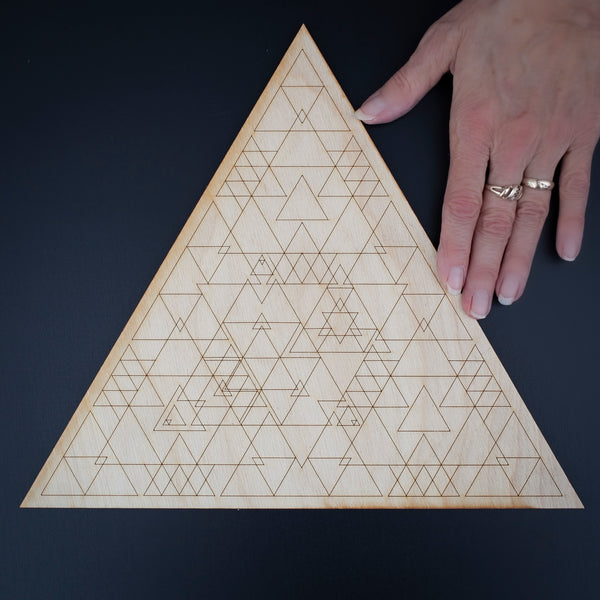 Triangle Crystal Grid, 12in