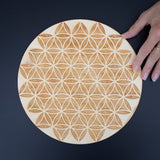 Flower of Life Crystal Grid, 12in Wooden Grid