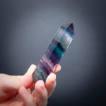 Rainbow Fluorite Wand, 3in, Double Terminated