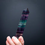 Rainbow Fluorite Wand, 4in, Double Terminated