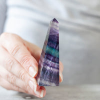 Rainbow Fluorite Obelisk, 2.75in