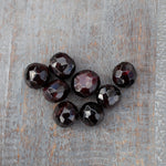 Faceted Garnet Stone, 1/2in