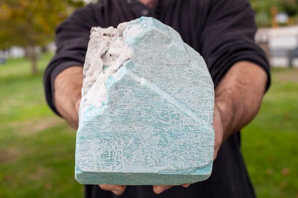 Large, Raw Amazonite Stone for Display