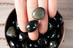 Gold Sheen Obsidian Stones. Small Tumbled Stones, Grade A for gazing