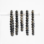 Gold Sheen Obsidian Bracelet, 8mm Stretch Bead Bracelet
