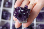 Small Amethyst Cluster, Grade A Dark Purple Crystals for Wire wrapping