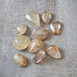 Rutilated Quartz Stone, Grade A, Small Tumbled Stone