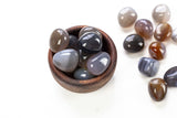 Gray Agate Tumbled Stones