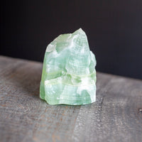 Green Calcite, Banded Stone, 10oz