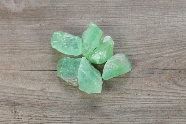 Rough Green Calcite Crystals