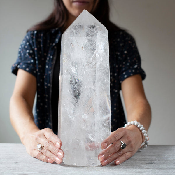 Giant Clear Quartz Tower, 11lb