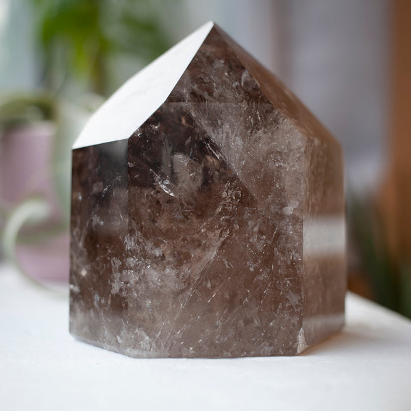 Hematoid Smoky Quartz Crystal Tower, 3lb, Hematite Included, High Quality 'Garden Quartz'