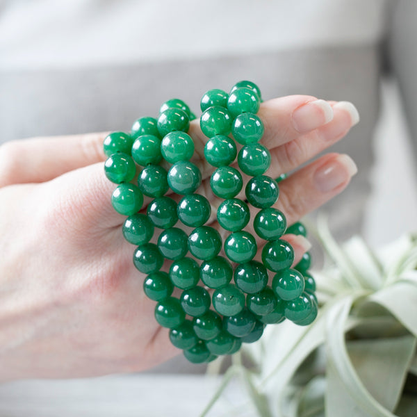Green Aventurine Bracelet, 10mm