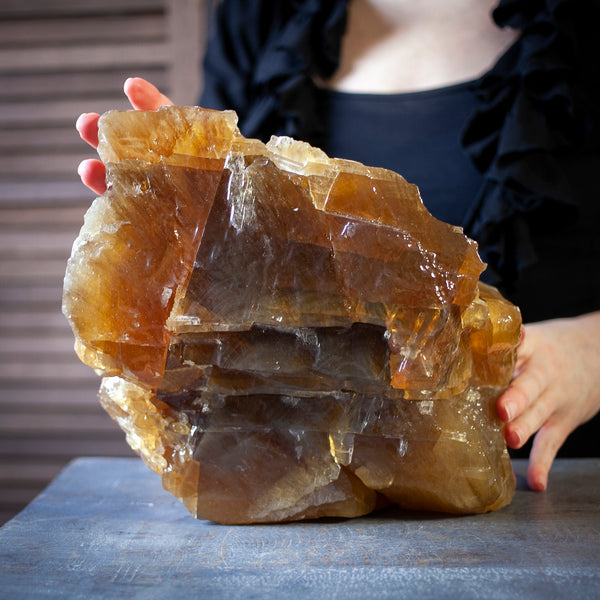 Honey Calcite, Huge 17lb Golden Calcite