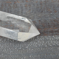 Clear Quartz Point Wand | Large, Naturally Terminated Quartz Crystal with Polished Point and Raw Base