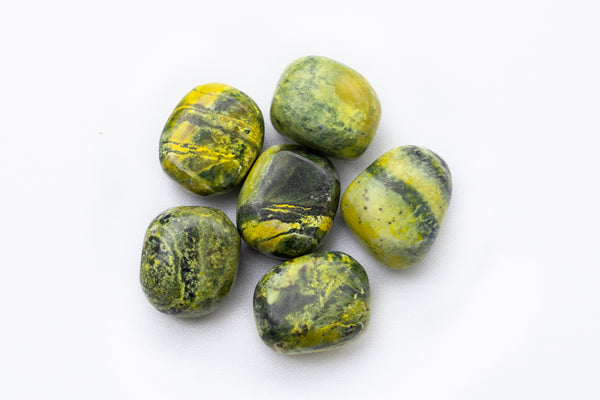 Large Green serpentine stones