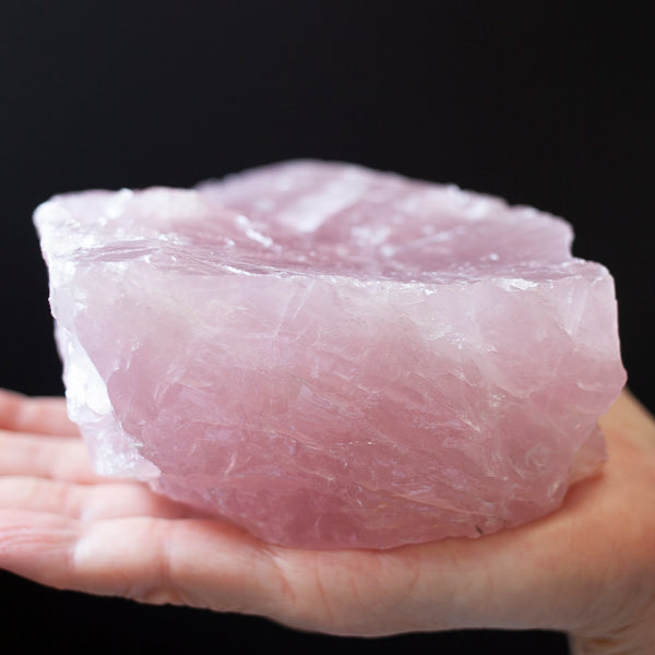 Large Raw Rose Quartz, Lavender Pink Quartz Crystal, 2lb 8oz