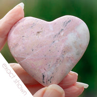 one of a kind rhodonite heart gift