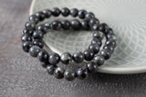 Larvikite Bracelet | 8mm Bead Stretch Bracelet
