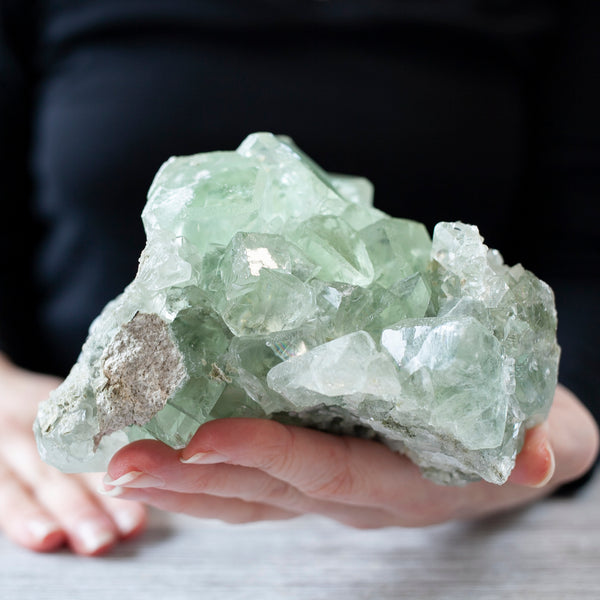 Green Fluorite Crystal, 3.4lb
