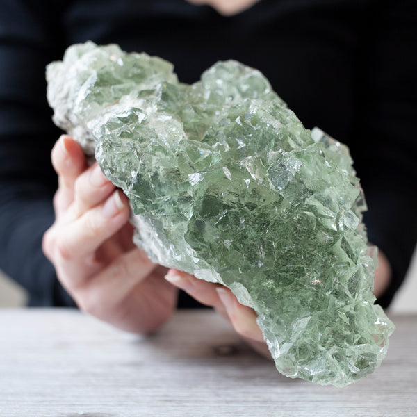 Green Fluorite Crystal, 4lb