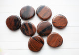 Mahogany Obsidian Worry Stone | Round, 1.5in Carry Stone