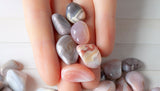 small tumbled agate stones