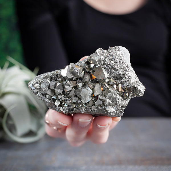 Pyrite, Cluster With 'Druse'