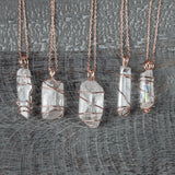 Pink Crystal Pendants. Dainty, Feminine Necklaces for Spring and Summer