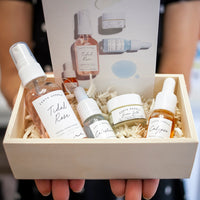 Vegan Beauty Gift Set with Crystal Infused Oils